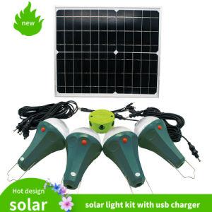 Kit do Sistema de Painel Solar portátil 6W Kit de Iluminação Doméstica Solar
