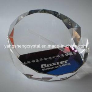 Paperweight inciso popolare di vendita caldo di vetro dello spazio in bianco di cristallo del laser 3D