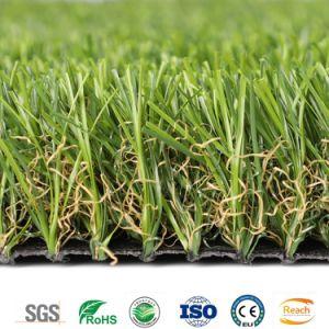 Schaut die natürliche 15mm Höhe, die künstliches Rasen-Gras landschaftlich verschönert