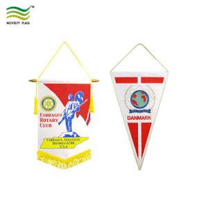 習慣のフェルトの三角形の長旗ストリングフラグ