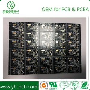 Hightechs-Elektronikflachbaugruppe Schaltkarte-schwarzes Öl