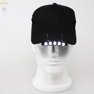 帽子クリップライト帽子ランプの縁のヘッドライトの野球帽のバイザーランプ