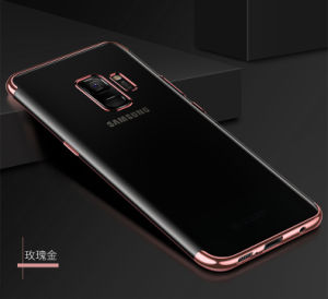 Samsungギャラクシーノート9のための新しい電気めっきTPUの携帯電話の箱