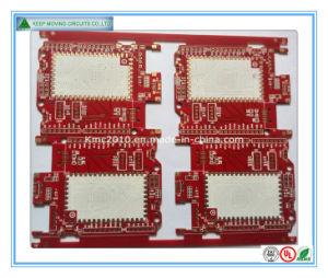 2 camada de 4 Camadas da máscara de Solda Vermelho PCB