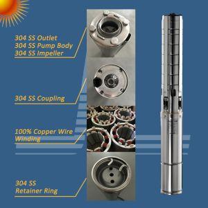 4D72/10004.2/125 SSC-DC solar de 1kw de bomba de agua sumergible, el Solar de la bomba de pozo