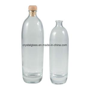 Fundo espesso gelo Cristal copo de vinho Vodka Garrafa com rolha esmerilada