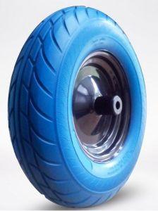 Для тяжелого режима работы Tgum плоских свободных PU пены передвижной Wheelbarrow колеса