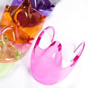 Semi, tapa transparente Restaurante nariz y Alimentos Cocina de plástico Chin cara Boca Escudo Anti niebla transparente Máscara 8 Color