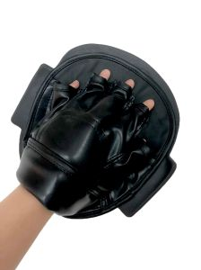 Merci di sport che perforano i guanti di cuoio d'inscatolamento del guanto mezzo dell'obiettivo per karatè