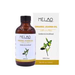 OEM / ODM certifié biologique et de Pure huile essentielle de jojoba pressée à froid pour les cheveux et de la peau vrac
