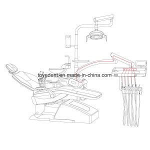 パイプラインの消毒を用いる高いQuanlityの医学の歯科処置の椅子の単位