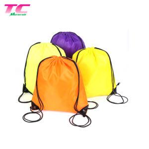 La promoción de la bolsa de deporte al aire libre de la moda ecológica reutilizable Bolsa de cordón de algodón