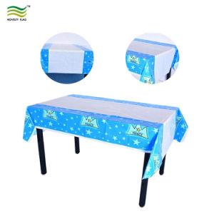 使い捨て可能な防水OilproofのPE PVC PEVAカスタムロゴの印刷のテーブル掛け