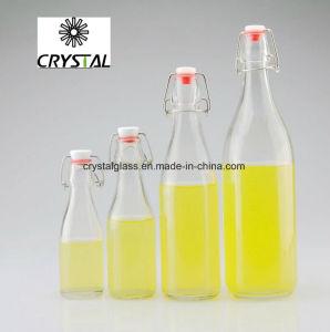 Glaswasser-Flasche 250ml mit Spitzenclips