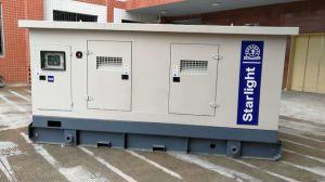 (a) 100kw 125kVA 65dBのVolvo Penta Tad531geのスタンバイGensetを使用して低雑音のディーゼル発電機セット