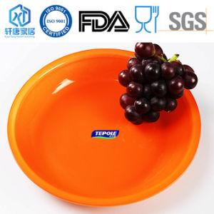 Fruit rond orange plaque de verre la plaque à écrou de la plaque de verre trempé de la vaisselle
