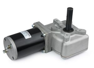 上昇のための直角PMDCのワームギヤモーター