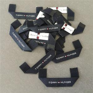 De Alta Densidad personalizada Mitre doblar ropa etiquetas tejidas etiquetas principal
