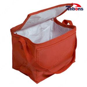 Commerce de gros isolée vinyle 600d de la glace des sacs pour la promotion du refroidisseur