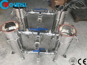 Industrielles SS-Wasser-Filtration-Duplex-Ähnlichkeits-Beutel-Kassetten-Filtergehäuse