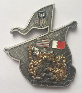 柔らかいエナメル及びエポキシ(118)が付いている工場価格の金の骨董品の挑戦硬貨