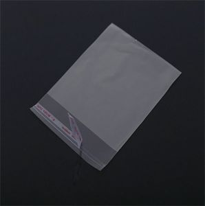 良質OPPはCD/DVDのためのAdheresiveのOPPの袖OPPの袖を袋に入れる