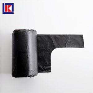 LDPE HDPE 롤에 주문 반공식적인 손잡이 쓰레기 봉지