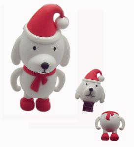 PVC漫画動物USBのフラッシュ駆動機構のクリスマス犬USBのメモリ記憶(UV16)