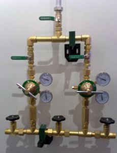 De Verzamelleidingen van het gas voor het Systeem van de Levering van het Gas