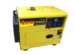 Het lucht Gekoelde 5kw Stille Type van Diesel Reeks van de Generator (TDG6000SE)