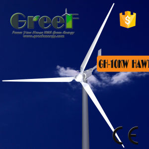 De horizontale Prijs van de Turbine van de Wind van de As 10kw voor Verkoop