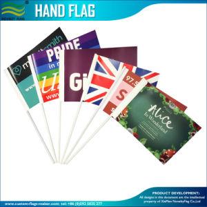 Promotion pays Polyester papier bon marché PE drapeau à la main en PVC (SC-NF01F02016)