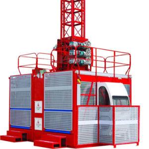 2t grúa de Constructores de la jaula doble de capacidad para la venta