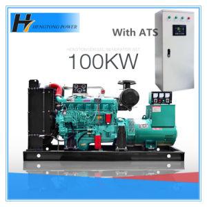Dieselgenerator des reinen kupfernen schwanzlosen Drehstromgenerator-100kw/125kVA mit Druckluftanlasser