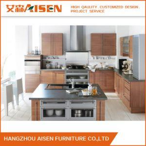 personalizado de melamina grãos moderno em madeira armário de cozinha
