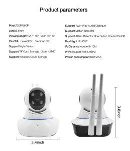 720p steuern WiFi drahtlose CCTV-IP-Videokamera mit IR und Bewegungs-Befund automatisch an