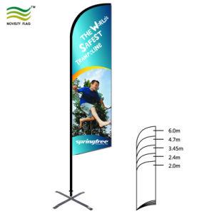 Для использования вне помещений Логотип пуховые флаг с помощью различных баз