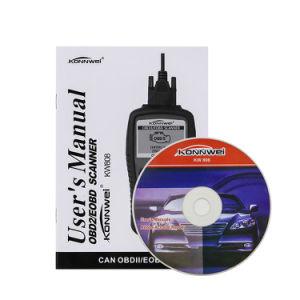 Konnwei KW808 Scanner OBD2 Lector de código de la herramienta de diagnóstico de coche universal
