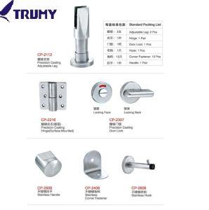 SS304 de alta calidad de la partición del armario de baño Accesorios de Baño de Hardware