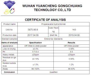 HCl van Proparacaine van de Zuiverheid van 99% Lokaal Poeder 5875-06-9 van het Verdovingsmiddel