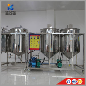 Novo Design Mini Multifuncional Refinaria de óleo comestível e refinação de óleo de amendoim comestíveis