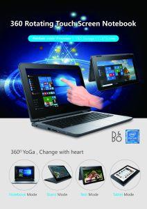 """11,6"""" типа йоги 360 вращающихся ноутбук/планшетный ПК 2 в 1, оригинальный бренд, Pentium M четырех ядер $120,00 вверх"""