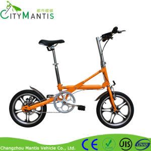 Mini bicicleta elétrica dobrável de liga de alumínio com pedal e LED