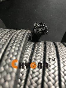 Haut de solides PTFE emballage tressé en fibre de graphite (teneur en graphite: 25%)