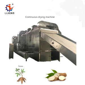 A Nigériasecagem contínuo aquecimento de madeira de mandioca secador da máquina