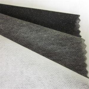 Dos puntos calientes PA Non-Woven tejidos entretela adhesiva de papel