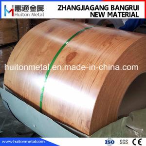 PPGI imprimé bobines en acier avec motif en bois