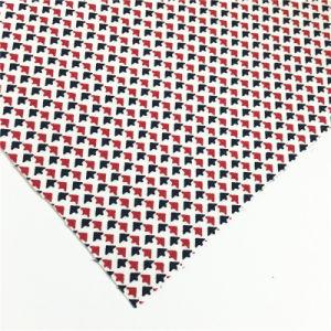 衣服のための赤く白く黒い印刷された製造の綿スコットランドファブリック