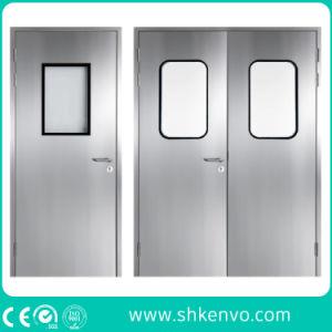 Chambre propre et conforme aux BPF portes battantes de rinçage en métal pour la nourriture ou les industries pharmaceutiques