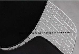 レジャーダイニングKDブラックバックPUクッションワイヤーダイヤモンドチェア